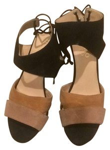 Franco Sarto Black and light brown Wedges