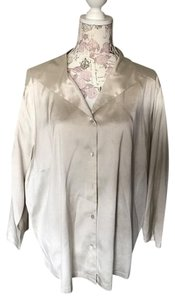 Eileen Fisher 1x 2x Xxl 2xl Top creamy silver