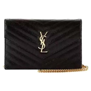 Saint Laurent New With Tags Ysl Wallet On A Chain Kate Shoulder Bag