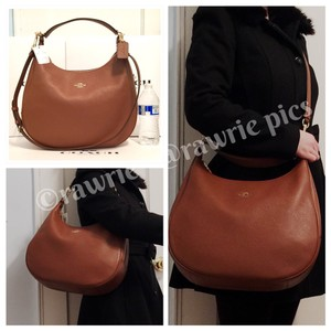 Coach Slouchy Convertible Strap Soft Leather Leather Hobo Bag