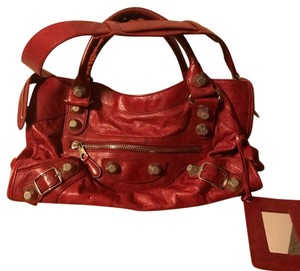 Balenciaga Satchel in Red