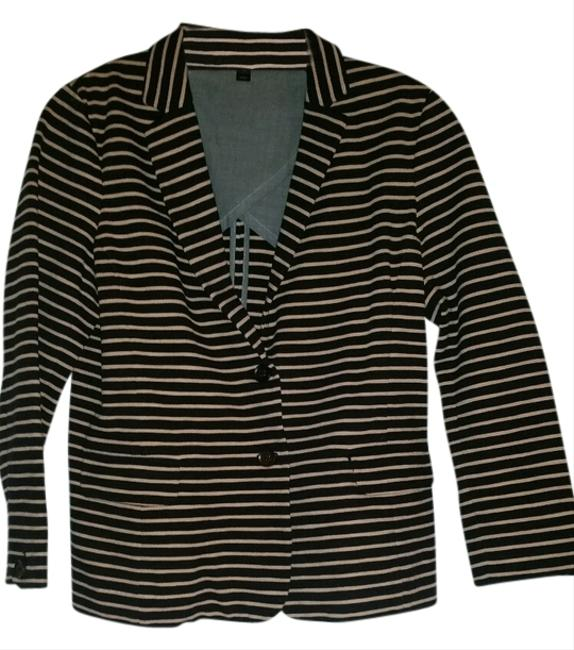 J.Crew black with pink stripes Blazer