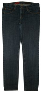 AG Adriano Goldschmied 5 Pocket Style Zip Fly Cotton/spandex Skinny Jeans-Dark Rinse