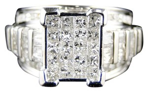 Other WHITE GOLD PRINCESS CUT DIAMOND BRIDAL ENGAGEMENT RING 2.0 CT