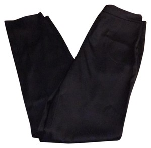 Chanel Crop Cropped Seams Silk Straight Pants Black