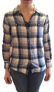Eliot Danori Button Down Shirt Blue/grey/beige