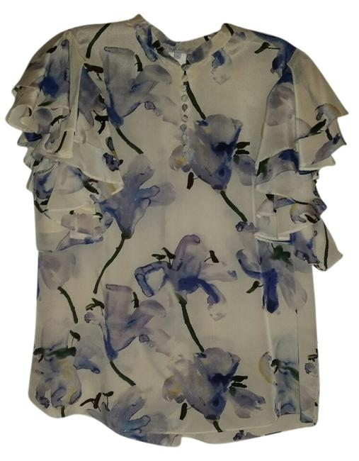 Paul & Joe Top white with blue floral