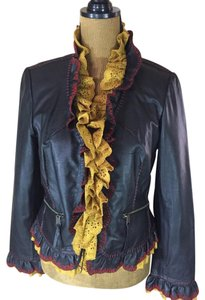 Double D Ranchwear Leather Embroidered Leather Jacket