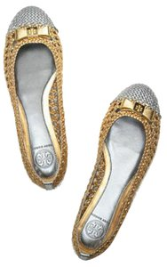 Tory Burch Metallic Gold & Silver Flats