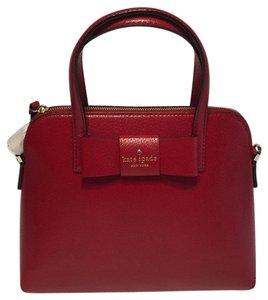 Kate Spade Maise Bow Red Satchel in Pillbox Red