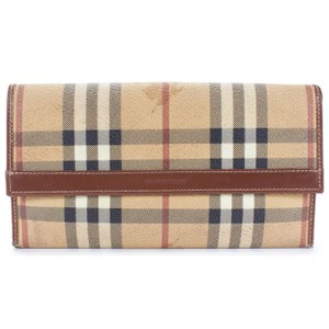 Burberry Haymarket Check Bi Fold Long