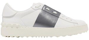 Valentino Sneakers Open Sneakers Rockstud Metallic Band Silver Athletic