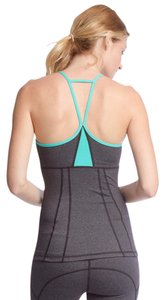 She & Sky Colorblock Athletic Tank with Strappy Back