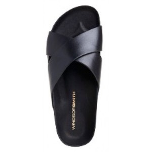 Windsor Smith Black and Gold Sandals