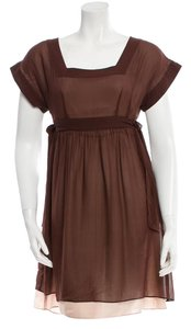 Chloé short dress Brown on Tradesy