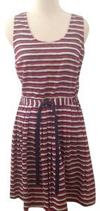 Maison Jules short dress blue and red on Tradesy