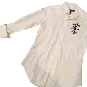 Ralph Lauren Button Down Shirt white/navy