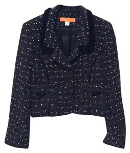 Cynthia Steffe Tweed Velvet Black / White Blazer