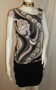 Emilio Pucci Spring Floral Print Made In Italy Top Multi-Color
