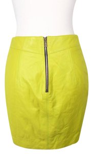 Jason Wu Leather Mini Skirt YELLOW