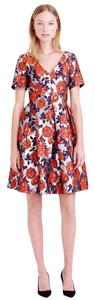 J.Crew Metallic Jacquard Floral Dress