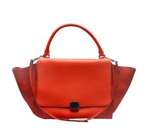 Céline Trapeze Red Cross Body Bag