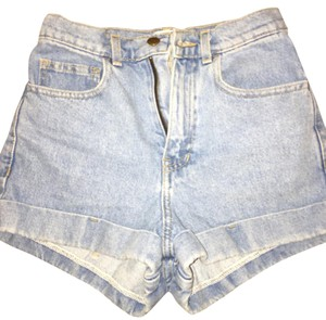 American Apparel Cuffed Shorts Blue