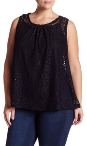 Olivia Sky 2 Piece Lace Swing Top BLACK