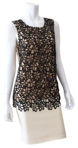 Lela Rose Top Black Tan