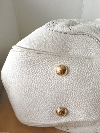 Louis Vuitton Leather Perforated Suede Luxury Shoulder Bag