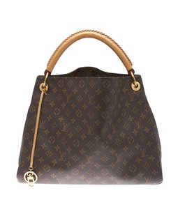 Louis Vuitton Monogram Coated Canvas Leather Lv Hobo Bag
