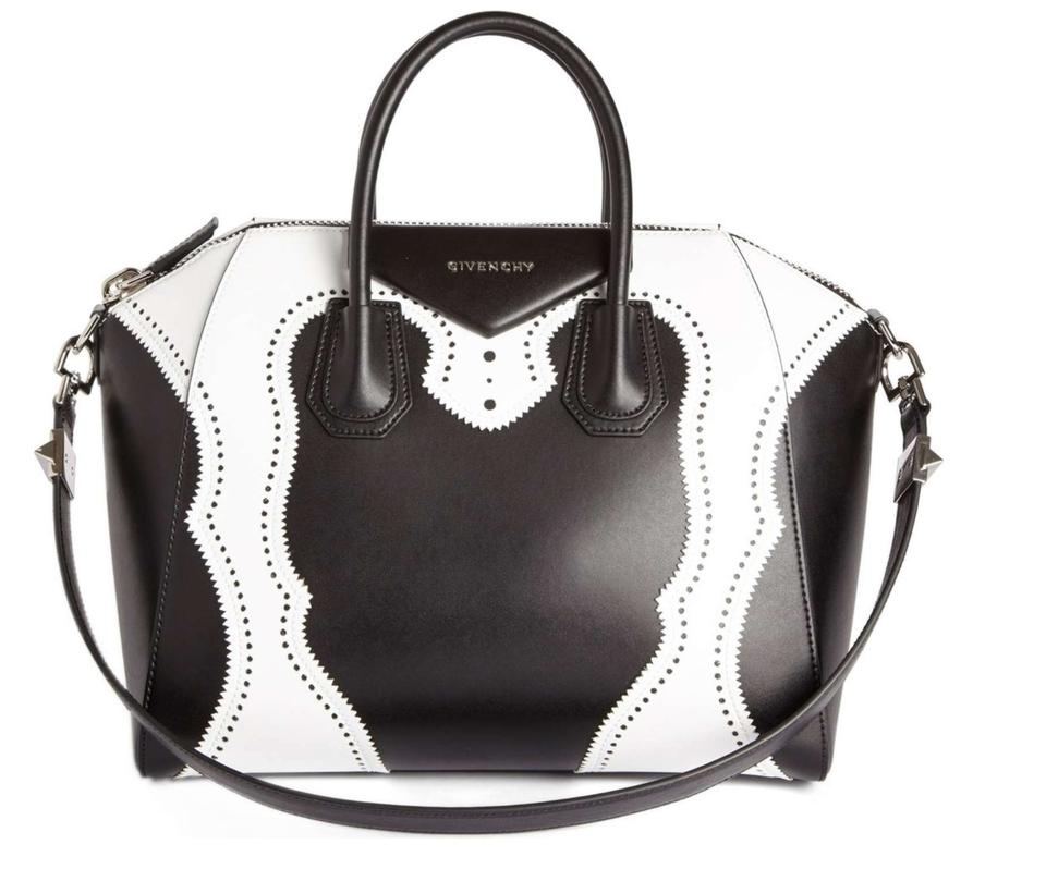 bb305b3a90c35 Givenchy Antigona Tote Leather Shoulder Satchel in Black and White Image 0  ...