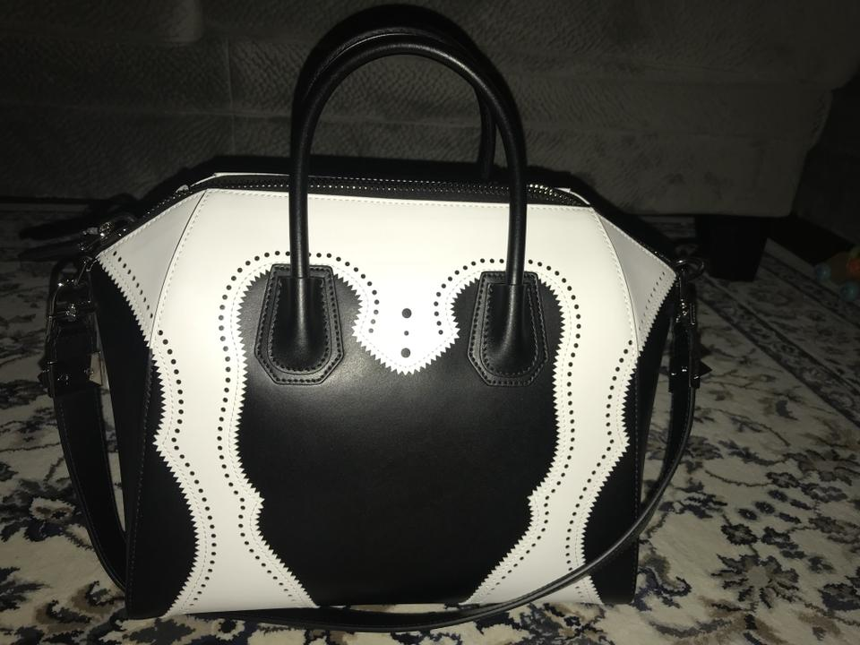 226b816a7a333 Givenchy Antigona Tote Leather Shoulder Satchel in Black and White Image 7.  12345678