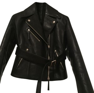 Calvin Klein Collection black Leather Jacket