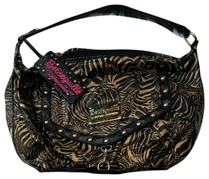 Betsey Johnson Satchel in Brown/gold