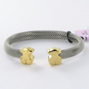 TOUS Tous Sweet Dolls Bears Bracelet 18K Yellow Gold Steel Mesh