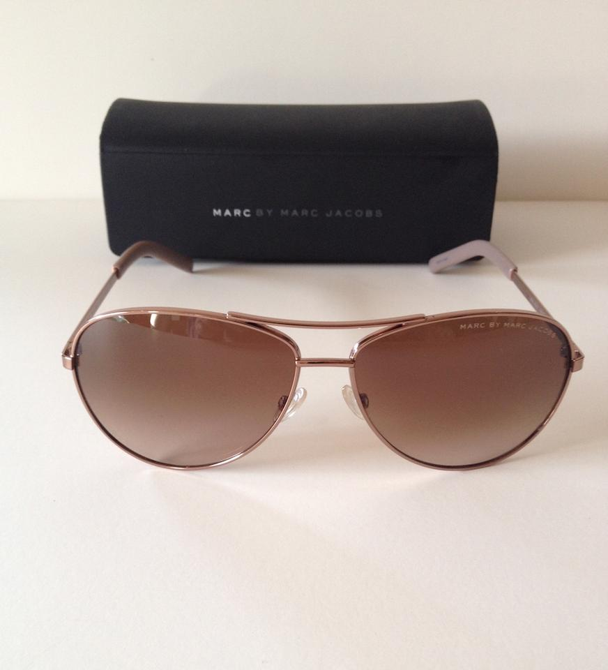 77fdc5e23ff Marc by Marc Jacobs Red Gold Frames - Brown Gradient Lens Aviator Mmj 343 S  Sunglasses