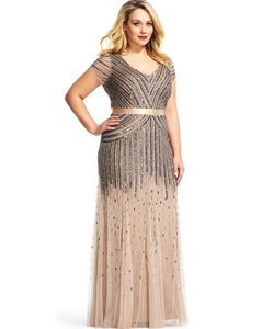 Adrianna Papell Vintage Greatgatsby 1920s Full Length Dress
