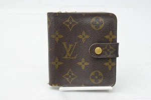 Louis Vuitton Louis Vuitton Brown Monogram Compact Wallet with Zippered Coin Purse