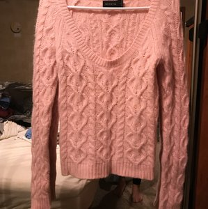 The Limited Cable Knit Soft Scoop Neck Baby Ballerina Sweater
