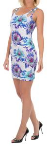 Just Cavalli short dress Blue and White Beach Cover-up Summer Mini on Tradesy