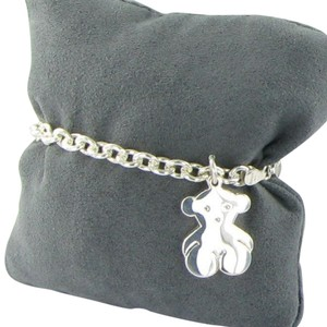 TOUS Tous Silver Sweet Dolls Bracelet Links Bear Charm Sterling 925