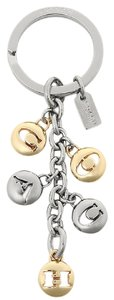 Coach Coach Signature Gold and Silver Letter Key Fob