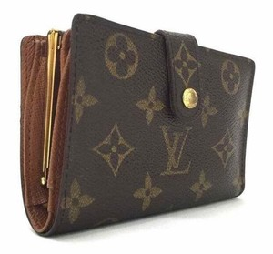 Louis Vuitton French Classic Monogram Canvas Kisslock Bifold Wallet France