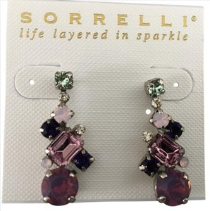 Sorrelli Sorrelli Glittering Multi-Cut Crystal Earrings