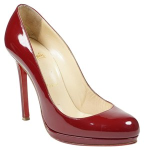 Christian Louboutin Neofilo 37 Patent Leather Round Toe 120 Red Pumps