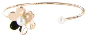 TOUS Tous Vermeil Pink Happy Moments Pearl Flower Cuff Bracelet Sterling