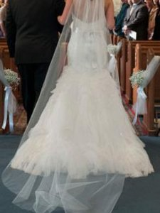 Chapel Style Bridal Wedding Veil New White