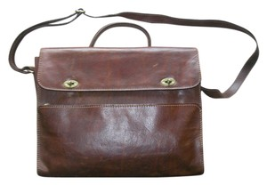 The Bridge Dark Leather Brown Messenger Bag