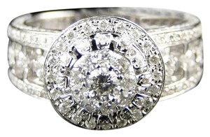 Other 14K White Gold Round Cut Engagement Bridal Wedding Band Ring 2 Ct